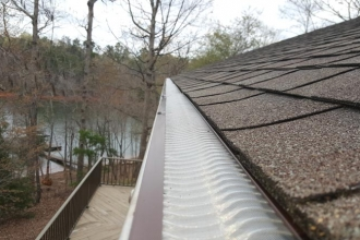 Valor Gutter Guards Charlotte's high flow gutter system.